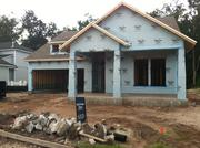 One of dozens of homes under construction in RiverTown.
