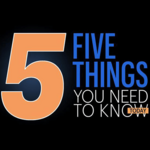​Five things you need to know today, and my kind of wakeup alarm