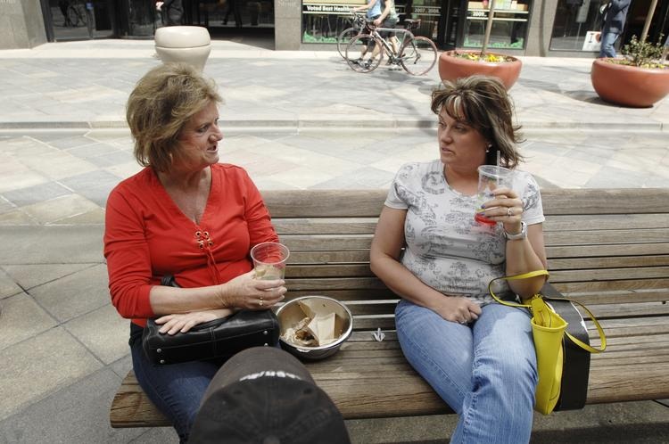 Barbara Anderson (left) and Tammy Feder