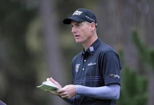 Constellation's logo is visible on Jim Furyk's sleeve during golf tournaments.
