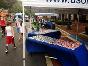 Occasionally Cake of Alexandria helped celebrate July 4 by making 750 cookies for the USO-Metro Firecracker 5K at Reston Town Center.
