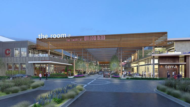 The Shops at Willow Bend's new entrance.