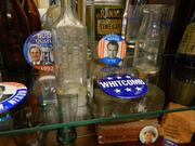 A collection of bottles that were manufactured in New Albany as well as presidential buttons are among nods to history included in the décor at Silvercrest.