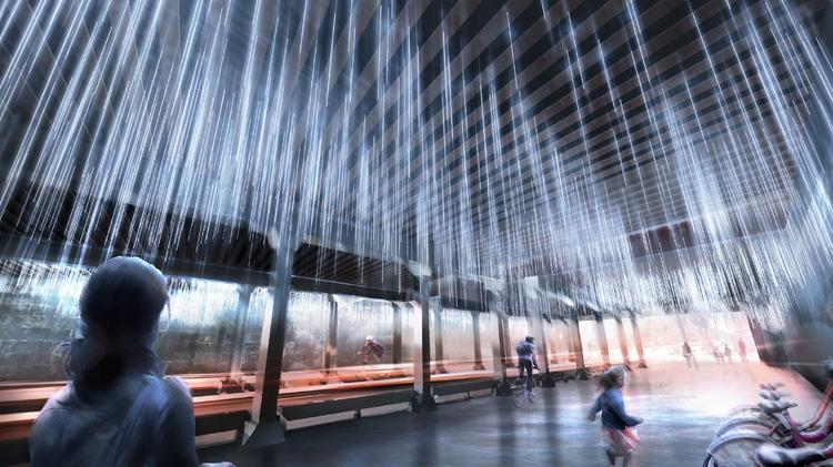 """Rain,"" from Thurlow Small Architecture and NIO, is a public art project slated for a NoMa underpass."