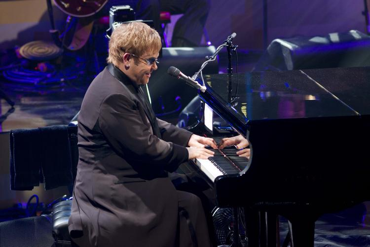 Elton John performs at the Beacon Theater in New York, U.S., in March 17, 2011. He is among the many music stars who once recorded records at Caribou Ranch near Nederland.