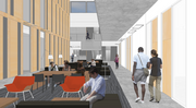Austin Hall will provide ample space for students to meet.