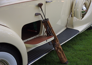A 1938 Packard owned by Matt and Karla Hackney has style. Yes, it really has a dedicated space for your golf clubs.