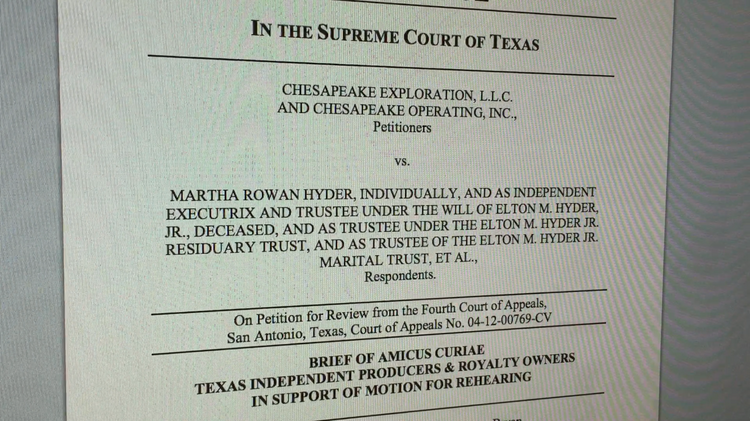Tipro Weighs In On Texas Supreme Courts Chesapeake Decision San