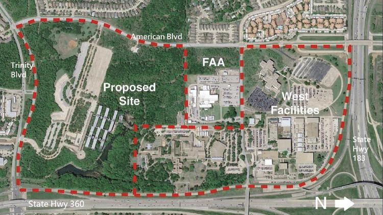 American Airlines is seeking $25 in incentives for its headquarters project just off State Highway 360 in Fort Worth, near the American Airlines Flight Academy.