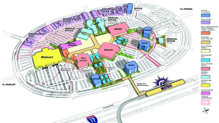 The Metrocenter Mall will be converted into an urban infill regional hub.