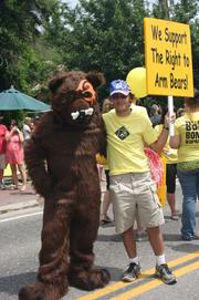 BareBones WorkWear has added a mascot, Barey Bones. Seen here at at a parade, Barey also will deliver a message of safety to the industries that the workwear retailer serves.