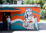 The first of two Spear murals at Hideaway Bar on Virginia Avenue was done at the back of the building for a fundraising event.