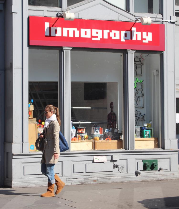 Lomography Gallery Store, a community dedicated to analog photography, in New York City's West Village