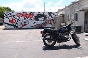 Spear's Van Halen mural by Space Bar in Orlando's Milk District. The bike isn't his, but it does look cool there.