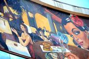 Detail of the Cubra Libre mural. That may or may not be Robert Goulet in the background.