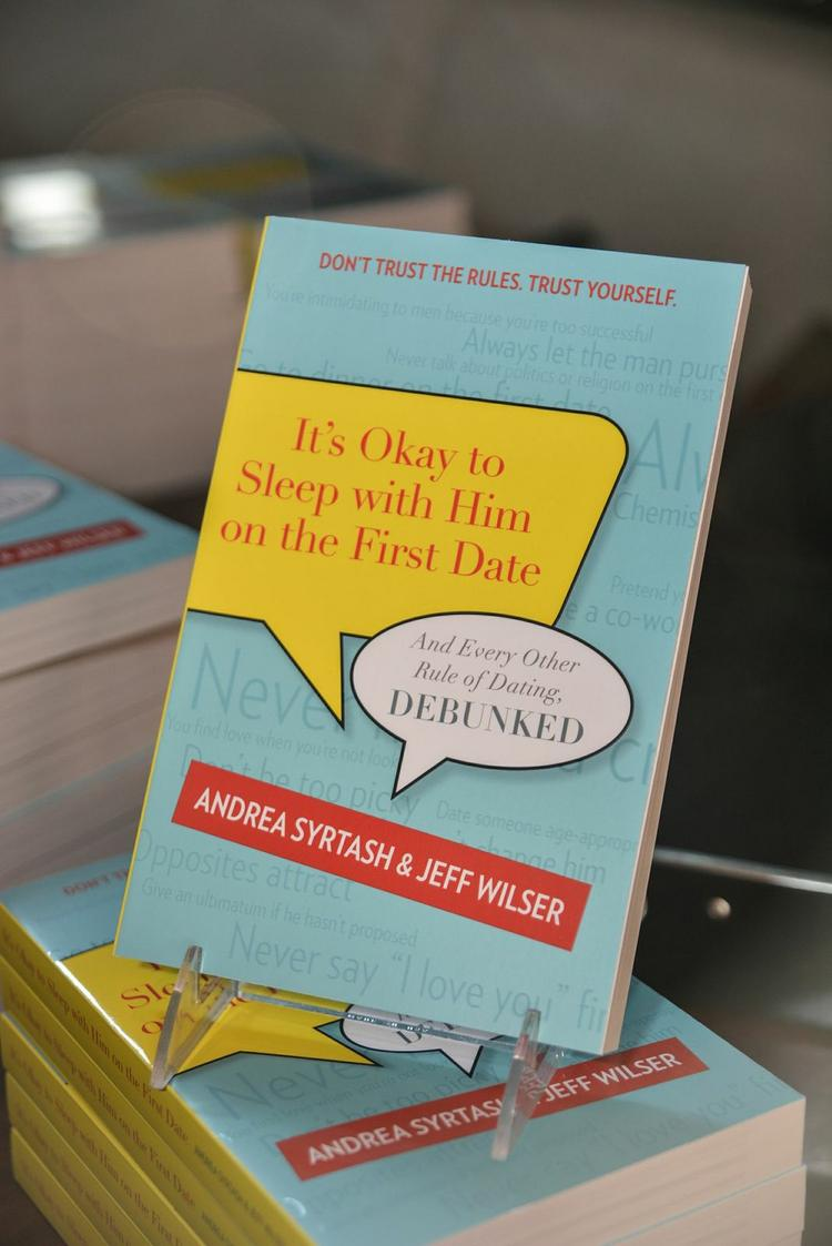 """Authors Andrea Syrtash and Jeff Wilser swung through Atlanta recently on tour for their latest book: """"It's Okay to Sleep with Him on the First Date: And Every Other Rule of Dating, Debunked."""""""