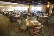 This is what the restaurant at the Hyatt Regency Hotel looked like before renovations took place.
