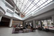 After the renovation, the lobby has a bright new look.