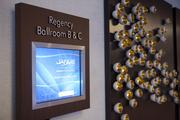 Electronic reader boards were installed strategically throughout the hotel, especially near the meeting and ballrooms.