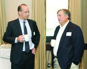 David Kiray, left, of Prudential Financial and Emery Stewart of Schneider Downs & Co. Inc.