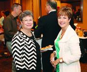 Featured speaker Bonnie Budzowski, left, of inCredible Messages and Kim McClure of Mary Kay.