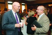 Larry Story, left, of United Way of Allegheny County and Nathan Macioce of Wells Fargo Insurance.