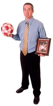 "Steven Benjamin - Owner/vocational consultant, Progressive Rehabilitation Management Inc. ""I have one of my oldest daughter's soccer balls and a picture of all my children. I have the soccer ball because one of the most enjoyable things in my life is coaching her. I feel that I have learned how to interact, work with others, strive to get better at whatever I do and succeed through team sports. These are skills that I also enjoy teaching her. Soon, I hope, I will be sharing those same skills  with my other children, the twins."""