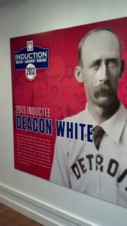 The Hall of Fame will induct Deacon White, an infielder from the late 1800s, in a ceremony set for July 28. White, like all other inductees this year, is deceased---the first time that has happened in nearly 50 years.