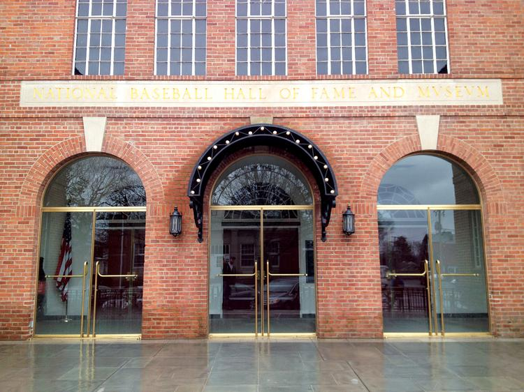 The National Baseball Hall of Fame and Museum, in Cooperstown, NY. The village builds much of its economy around the sport that (according to lore) was created there.