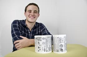 Bryan Silverman, co-founder of Star Toilet Paper and a Duke University junior, has a unique take on an old business: the company first obtains a large public venue to receive toilet paper at no cost, then reaches out to advertisers who pay half a cent per ad to target that demographic.