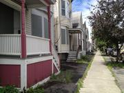 These homes on Morris Avenue are among numerous properties that would be demolished to clear the site for the Park South redevelopment.