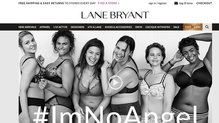 db884c43b9dde Lane Bryant is running an #ImNoAngel marketing campaign for its Cacique  intimates brand, setting