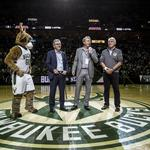 A light show and lots of VIPs: Scenes from the Milwaukee Bucks home opener
