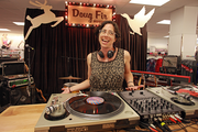 D.J. Safi prepares to spin upbeat music for a pre-opening soiree at Portland's new CityTarget, which opens today.