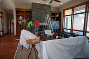 Workers put the final touches on Tranquility by BC Custom Construction Inc.
