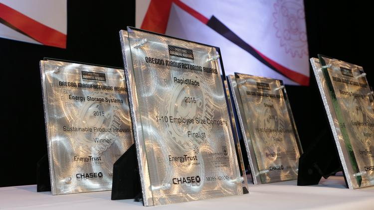 Three local companies were conferred honors for their sustainability acumen at Thursday's PBJ Manufacturing Awards for 2015.