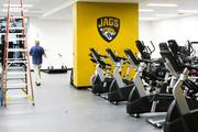 New paint and logos adorn the renovated and expanded Jaguars training facility.