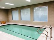 New frosted windows also highlight the pool area that features hot and cold tubs as well as a training pool.