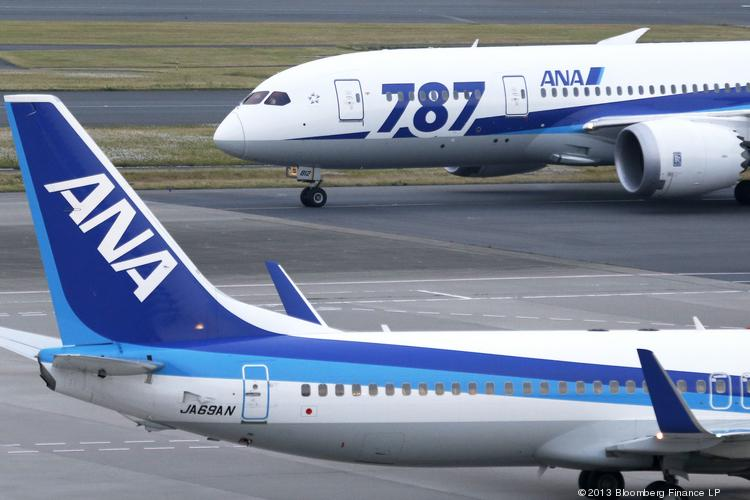A caution indicator appeared on an All Nippon Airways flight on Wednesday because of the fire extinguisher issue.