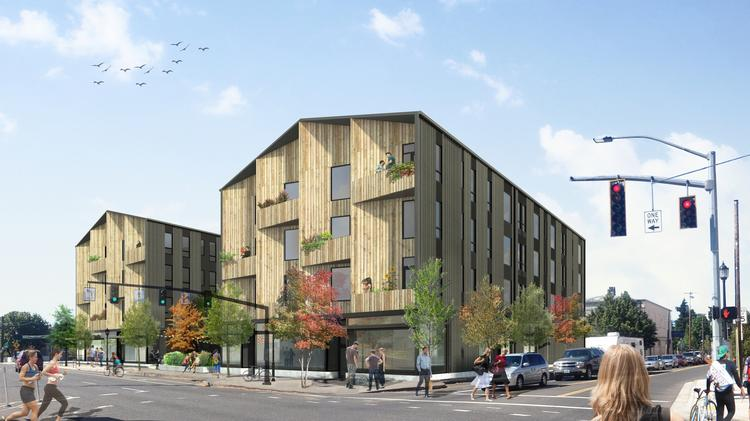 Hacker designed the Williams/Dame & Associates' mixed-use project for the Lents Town Center, which will now be owned by PDC.