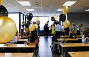 Linn Thurber employees celebrate the grand opening of the office expansion.