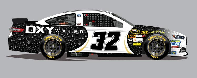 Oxywater is sponsoring NASCAR's FAS Lane Racing Team, beginning Sunday at the Food City 500.