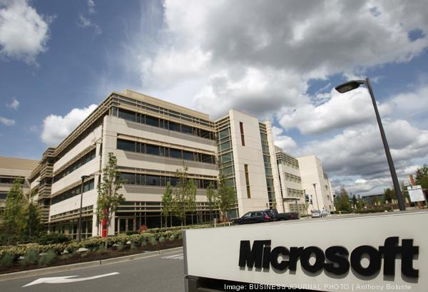 Pictured is Microsoft's corporate campus in Redmond, Washington on May 2, 2012.