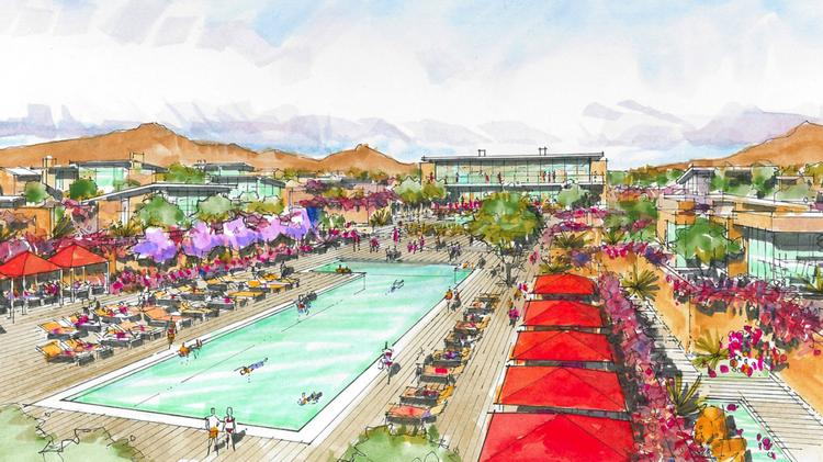 A rendering of the future Paradise Valley Ritz-Carlton.