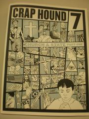 Craphound's Sean Tejaratchi used a clever concept, that being a 'zine devoted to clip art, consisting of usable clip art that, with Tejaratchi's designer eye guiding it, actually took on a narrative form despite its lack of verbiage. Tejaratchi also worked at Reading Frenzy, which still carries a small stash of reprinted Craphounds, and created a masterpiece one-off 'zine called KOOL Man. If you ever see it, buy it. Same with Craphound.