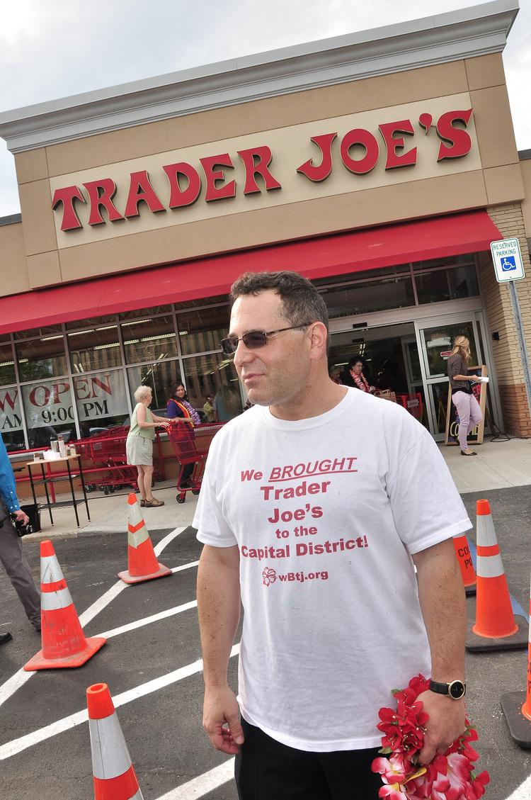 Bruce Roter at Trader Joe's opening day in 2012.
