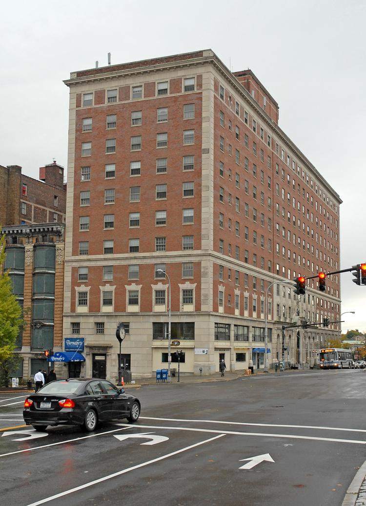 DeWitt Clinton building at the corner of State and Eagle streets in Albany, NY, could become a full-service hotel again.