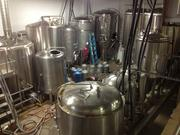 The brewing operation at East End Brewing Co. set up behind the tap room. Smith said the fermenters and tanks represented $250,000 worth of equipment.