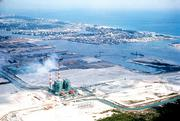 A photo of Florida Power & Light Co.'s Port Everglades power plant in 1962.