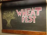Chalkboard showing a recent promotion in wheat beers at East End Brewing Co.